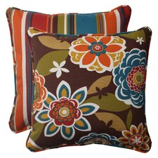Annie / Westport Reversible Corded Outdoor Throw Pillow (Set of 2)