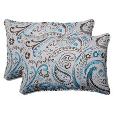 Paisley Corded Indoor/Outdoor Lumbar Pillow (Set of 2)