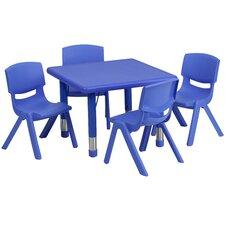 "5 Piece Square Activity Table  & 10.5"" Chair Set"
