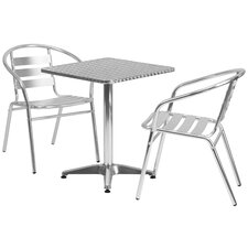 Square 3 Piece Bistro Dining Set