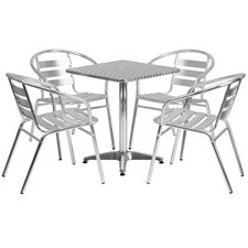 5 Piece Joanna Square Patio Seating Group