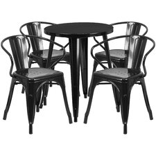 Metal Indoor/Outdoor 5 Piece Dining Set