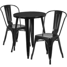 Metal Indoor/Outdoor 3 Piece Bistro Set