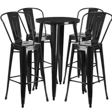 Metal Indoor/Outdoor 5 Piece Bar Set