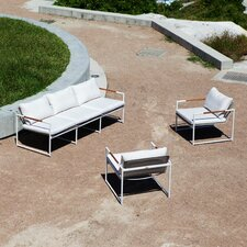 Breeze 3 Piece Lounge Seating Group with cushions