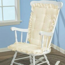 Carnation Eyelet Rocking Chair Cushion