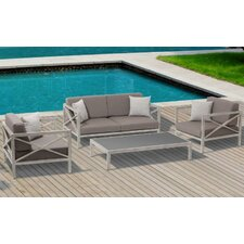 Pasadena Conversation Set 4 Piece Seating Group with Cushion