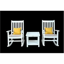 Herry Up Barcelona 3 Piece Rocking Arm Chair Set