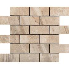 "Eurasia 2"" x 4/13"" x 13"" Porcelain Mosaic Tile in Chiara"