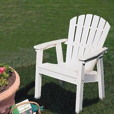 Bargain Adirondack Shell Back Deck Chair - EnviroWood