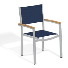 Travira Stacking Dining Arm Chair (Set of 2)