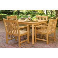 Great Reviews Classic Patio 5 Piece Dining Set