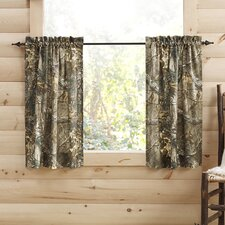 Camouflage Semi-Sheer Pinch Pleat Curtain Panels (Set of 2)
