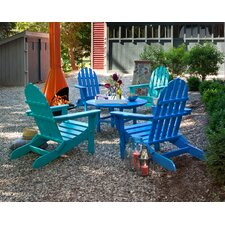 Classic Folding Conversation Adirondack 5-Piece Seating Group