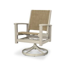 Coastal Swivel Rocking Chair