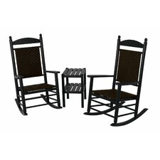Jefferson 3 Piece Woven Rocker Set