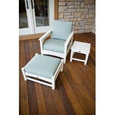 Club 3 Piece Deep Seating Chair Set