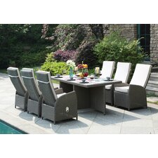 Clearwater 7 Piece Dining Set with Cushion