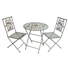 Metal 3 Piece Bistro Set