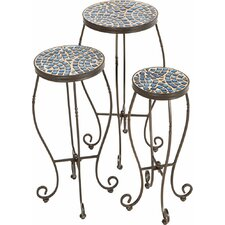 Tremiti Mosaic Plant Stand (Set of 3)