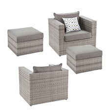 Amazing Bennett 4 Piece Deep Seating Group with Cushions