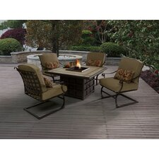 Antoine Spring Arm Chair with Cushions (Set of 4)
