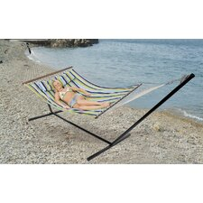 Double Antigua Cotton Hammock with Stand