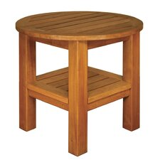 Terrace Mates Two Shelf High Round Side Table