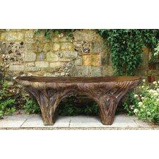 Driftwood Stone Garden Bench