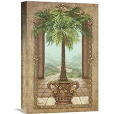 'Classical Palm Tree' by Janet Kruskamp Painting Print on Wrapped Canvas