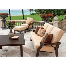 Belle Isle 3-Seat Glider Bench with Cushions