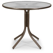 Coupon Glass Top Round Chat Table