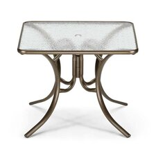 Glass Top Square Dining Table