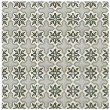 "Annata 9.75"" x 9.75"" Porcelain Patterned/Field Tile in Gray"