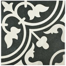 "Arte 9.75"" x 9.75"" Porcelain Field Tile in Black"
