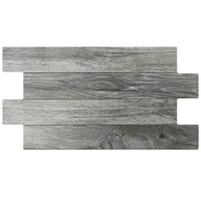 """Moscow 12.25"""" x 23.63"""" Porcelain Wood Look/Field Tile in Gray"""