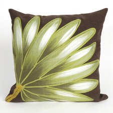 Visions II Palm Fan Indoor/Outdoor Throw Pillow
