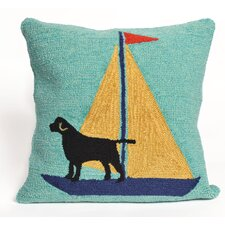 Frontporch Sailing Dog Throw Pillow