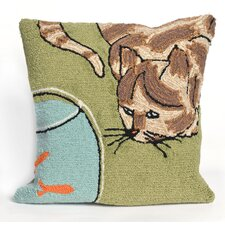 Frontporch Curious Cat Throw Pillow