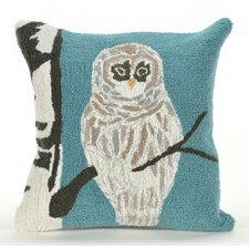 Frontporch Snowy Owl Indoor/Outdoor Throw Pillow