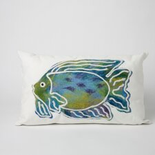 Batik Fish Indoor/Outdoor Lumbar Pillow
