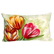 Tulips in Warm Indoor/Outdoor Lumbar Pillow