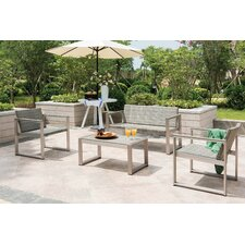 Chester 4 Piece Lounge Seating Group with Cushions