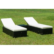 Read Reviews 3 Piece Lounge Chair Set with Cushion