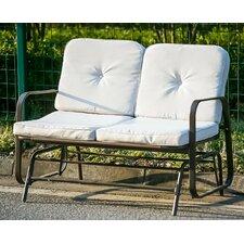 Outdoor Garden Glider Loveseat Bench