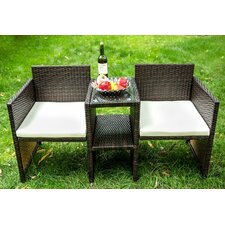 Outdoor Wicker Seating Group with Cushion