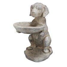 French Chic Garden Dog Decorative Bird Feeder