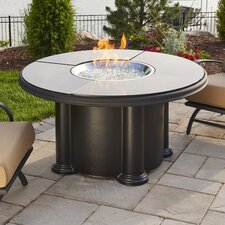 Grand Colonial Fiberglass Gas Chat Fire Pit Table