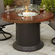 Colonial Fiberglass Gas Dining Fire Pit Table