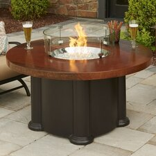 Colonial Fiberglass Gas Chat Fire Pit Table